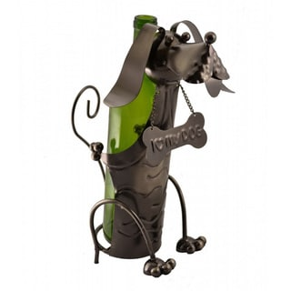 Wine Bodies Metal Dog Wine Bottle Holder