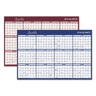 AT-A-GLANCE Reversible Horizontal Erasable Wall Planner, 36 x 24, 2018