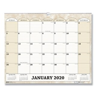 House of Doolittle Recycled Monthly Horizontal Wall Calendar, 14 7/8 x 12, 2018