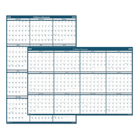 House of Doolittle Recycled Laminated Write-On/Wipe-Off Jumbo Yearly Wall Calendar, 66 x 33, 2019