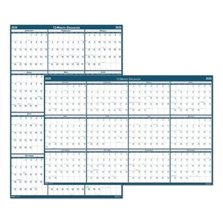 House of Doolittle Recycled Laminated Write-On/Wipe-Off Jumbo Yearly Wall Calendar, 66 x 33, 2018