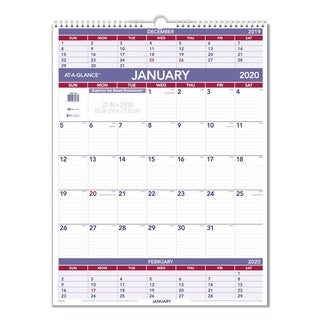 AT-A-GLANCE Three-Month Wall Calendar, 22 x 29, 2018