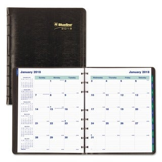 Blueline MiracleBind 17-Mo. Academic Planner, Soft Cover, 9 1/4 x 7 1/4, Black, 2017-2018