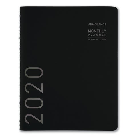 AT-A-GLANCE Contemporary Monthly Planner, 6 7/8 x 8 3/4, Black Cover, 2019