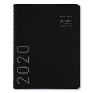 AT-A-GLANCE Contemporary Monthly Planner, 6 7/8 x 8 3/4, Black Cover, 2018