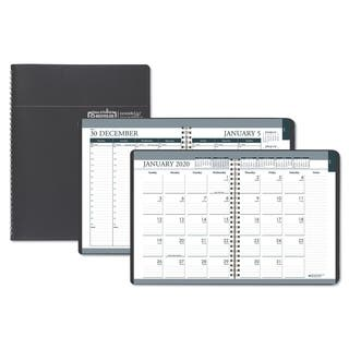 House of Doolittle Recycled Wirebound Weekly/Monthly Planner, 8 1/2 x 11, Black Leatherette, 2018|https://ak1.ostkcdn.com/images/products/10365019/P17472247.jpg?impolicy=medium