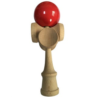 5-cup Natural Beech Wood Professional Kendama Trick Toy