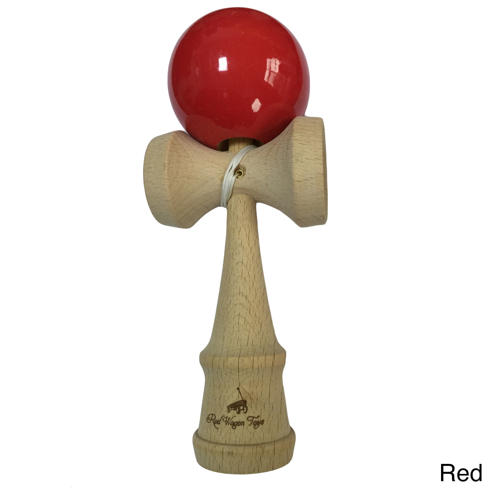 SEAICH Classic Beech Wood Kendama Toy (Red)