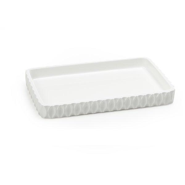 Wave White Amenity Tray