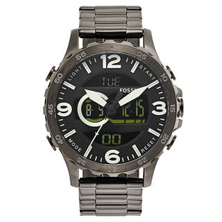 Fossil Men's JR1491 Nate Digital Smokey Grey Stainless Steel Watch|https://ak1.ostkcdn.com/images/products/10366590/P17473791.jpg?impolicy=medium