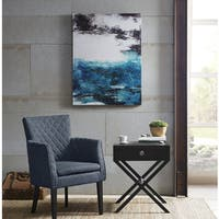 Madison Park Sailor's Dream Printed Canvas With Gel Coat - Blue
