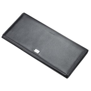 Caseti Piers Black Leather Long Wallet