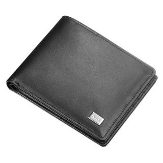 Caseti Bernard Black Leather Bifold wallet