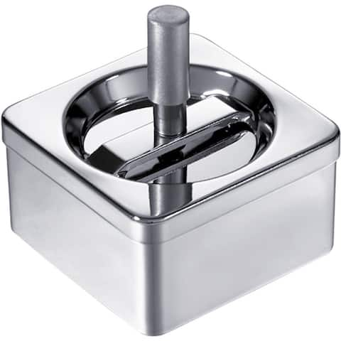 Visol Square Stainless Steel Push Down Cigarette Ashtray