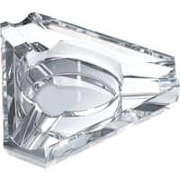 Jupiter Triangular Three Cigar Lip Crystal Ashtray