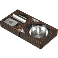 Visol Bremen Cigar Ashtray with Cigar Cutter and Punch