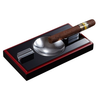 Visol Hydra Black and Red Wooden Cigar Ashtray