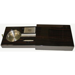 Visol Drawer Single Cigar Iron Wood Finish Ashtray