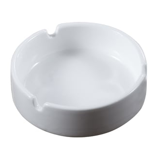 Visol White Ceramic Cigarette Ashtray