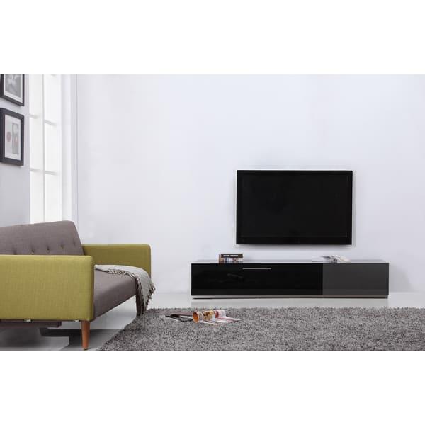 Grey Black Steel Modern Tv Stand