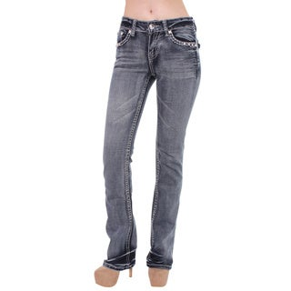 Sexy Couture Women's S97-PS Mid Rise Bootcut Jeans