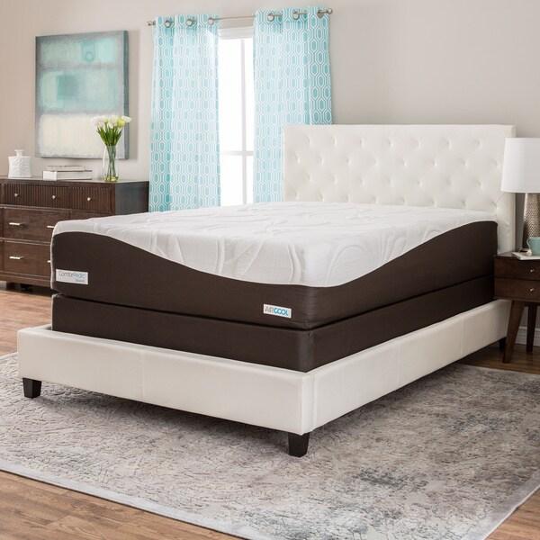 Comforpedic From Beautyrest 14 Inch King Size Gel Memory Foam Mattress Set 17473962