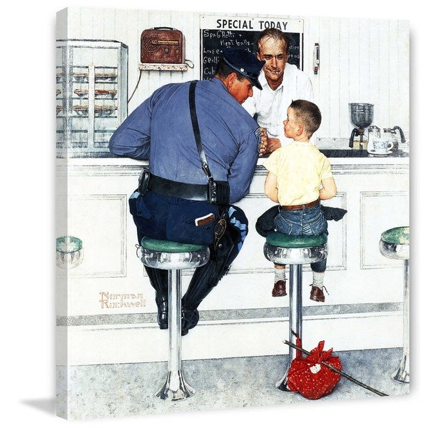"""Marmont Hill - """"Runaway"""" by Norman Rockwell Painting Print on Canvas"""