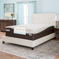ComforPedic from Beautyrest 10-inch Gel Memory Foam Mattress Set - White/Brown