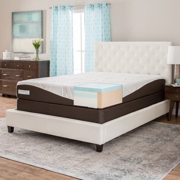 comforpedic from beautyrest 10 inch full size gel memory foam mattress set free shipping today. Black Bedroom Furniture Sets. Home Design Ideas