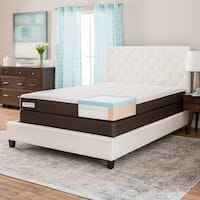 ComforPedic from Beautyrest 8-inch Full-size Gel Memory Foam Mattress Set - White/Brown