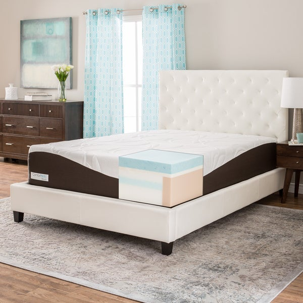 Comforpedic From Beautyrest 14 Inch King Size Gel Memory Foam Mattress Free Shipping Today