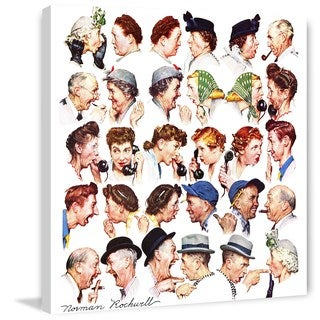 """Marmont Hill - """"Chain of Gossip"""" by Norman Rockwell Painting Print on Canvas"""