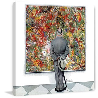 """Marmont Hill - """"Art Connoisseur"""" by Norman Rockwell Painting Print on Canvas"""