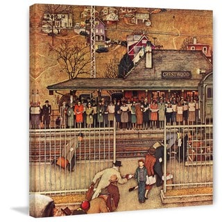 """Marmont Hill - """"Commuters"""" by Norman Rockwell Painting Print on Canvas"""