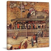 "Marmont Hill - ""Commuters"" by Norman Rockwell Painting Print on Canvas - Multi-color"