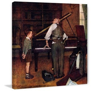"Marmont Hill - ""Piano Tuner"" by Norman Rockwell Painting Print on Canvas"