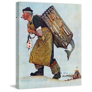 """Marmont Hill - """"Mermaid"""" by Norman Rockwell Painting Print on Canvas"""