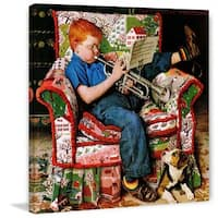"""Marmont Hill - """"Trumpeter"""" by Norman Rockwell Painting Print on Canvas - Multi-color"""