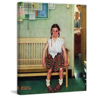 "Marmont Hill - ""Shiner"" by Norman Rockwell Painting Print on Canvas - Multi-color"