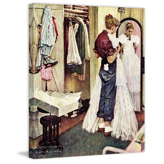 """Marmont Hill - """"Prom Dress"""" by Norman Rockwell Painting Print on Canvas"""