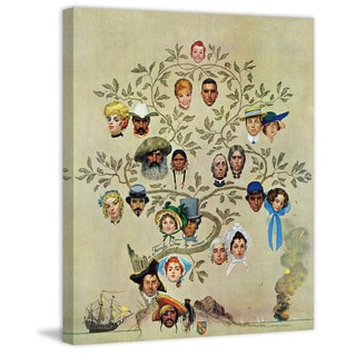 """Marmont Hill - """"Family Tree"""" by Norman Rockwell Painting Print on Canvas"""