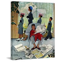 """Marmont Hill - """"Sunday Morning"""" by Norman Rockwell Painting Print on Canvas - Multi-color"""