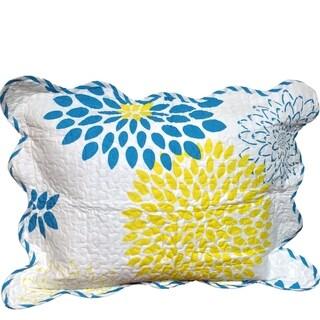 Full Bloom Capri Blue Sham