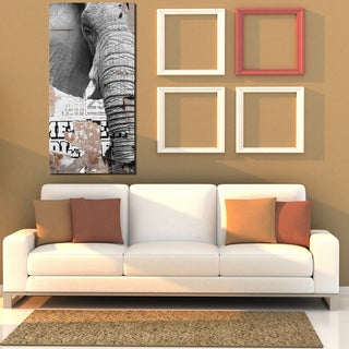 Ready2HangArt 'Saddle Ink Elephant III' Canvas Wall Art