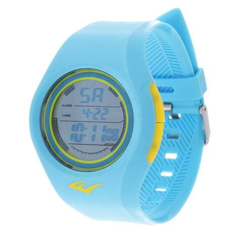 Everlast Retro Kids Digital Round Sport Mens's LED Turquoise watch Watch with Rubber Strap