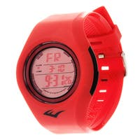 Everlast Retro Kids Digital  Round Sport Mens's LED Red Watch with Rubber Strap