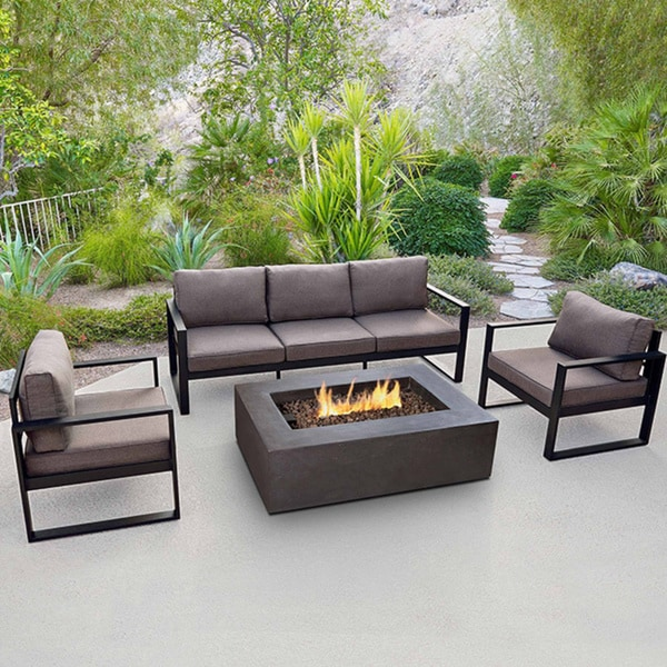 Baltic Black 3-seat Sofa by Real Flame