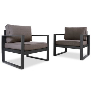 Real Flame Baltic 30 in. L x 28 in. D x 28.4 in. H Chairs (Set of 2)