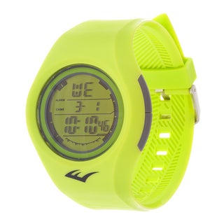 Everlast Retro Kids Digital  Round Sport Mens's LED Yellow Watch with Rubber Strap