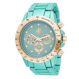 Fortune NYC Boyfriend Rosegold Case / Matte Green Strap Watch